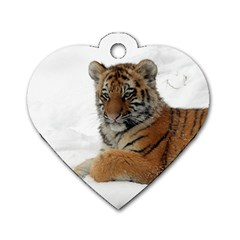 Tiger 2015 0101 Dog Tag Heart (One Side)