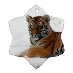 Tiger 2015 0101 Snowflake Ornament (2 Side)