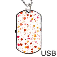 Heart 2014 0604 Dog Tag USB Flash (One Side)