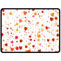 Heart 2014 0604 Double Sided Fleece Blanket (large)