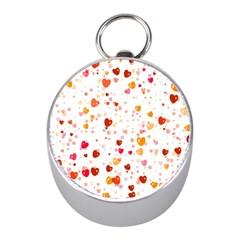 Heart 2014 0604 Mini Silver Compasses