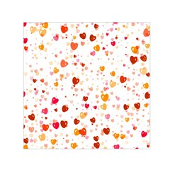 Heart 2014 0604 Small Satin Scarf (square)
