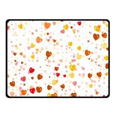 Heart 2014 0605 Double Sided Fleece Blanket (Small)
