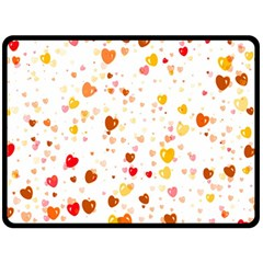 Heart 2014 0605 Double Sided Fleece Blanket (Large)