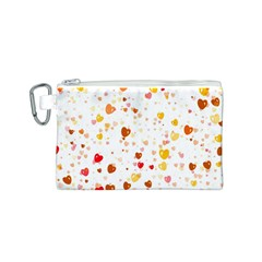 Heart 2014 0605 Canvas Cosmetic Bag (S)