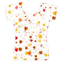 Heart 2014 0605 Women s Cap Sleeve Top