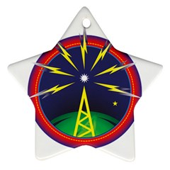 Broadcast Star Ornament (two Sides)