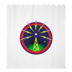 Broadcast Shower Curtain 66  x 72  (Large)