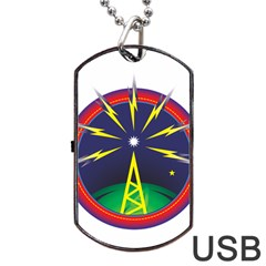 Broadcast Dog Tag Usb Flash (two Sides)