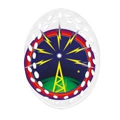 Broadcast Oval Filigree Ornament (2-Side)
