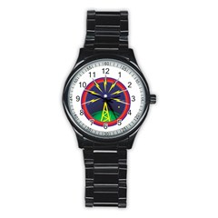 Broadcast Stainless Steel Round Watches