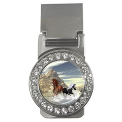Beautiful Horses Running In A River Money Clips (CZ)