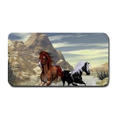 Beautiful Horses Running In A River Medium Bar Mats