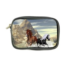 Beautiful Horses Running In A River Coin Purse