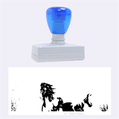 Beautiful Horses Running In A River Rubber Stamps (Large)