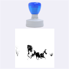 Beautiful Horses Running In A River Rubber Round Stamps (Large)