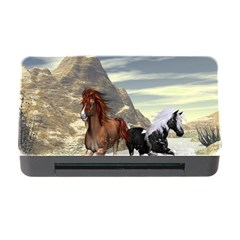 Beautiful Horses Running In A River Memory Card Reader with CF