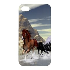 Beautiful Horses Running In A River Apple iPhone 4/4S Hardshell Case