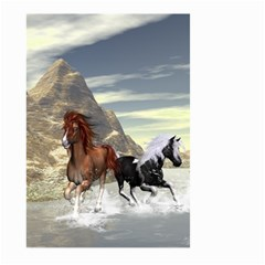 Beautiful Horses Running In A River Large Garden Flag (two Sides)