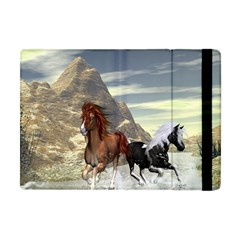 Beautiful Horses Running In A River Apple iPad Mini Flip Case