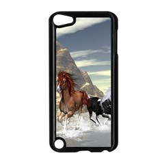 Beautiful Horses Running In A River Apple iPod Touch 5 Case (Black)