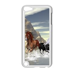 Beautiful Horses Running In A River Apple iPod Touch 5 Case (White)