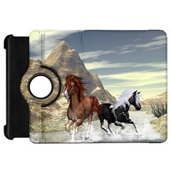 Beautiful Horses Running In A River Kindle Fire HD Flip 360 Case