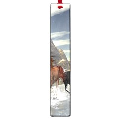 Beautiful Horses Running In A River Large Book Marks