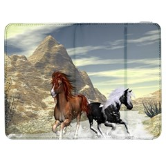 Beautiful Horses Running In A River Samsung Galaxy Tab 7  P1000 Flip Case