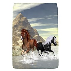 Beautiful Horses Running In A River Flap Covers (S)