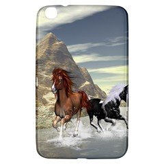 Beautiful Horses Running In A River Samsung Galaxy Tab 3 (8 ) T3100 Hardshell Case