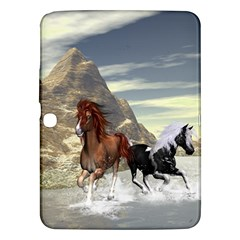 Beautiful Horses Running In A River Samsung Galaxy Tab 3 (10.1 ) P5200 Hardshell Case