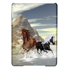 Beautiful Horses Running In A River iPad Air Hardshell Cases