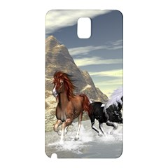 Beautiful Horses Running In A River Samsung Galaxy Note 3 N9005 Hardshell Back Case