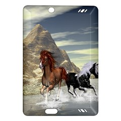 Beautiful Horses Running In A River Kindle Fire HD (2013) Hardshell Case