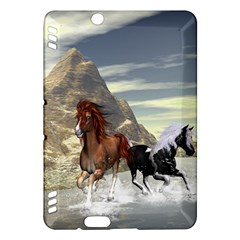 Beautiful Horses Running In A River Kindle Fire HDX Hardshell Case