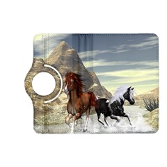 Beautiful Horses Running In A River Kindle Fire HD (2013) Flip 360 Case