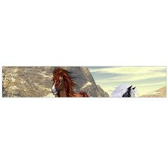 Beautiful Horses Running In A River Flano Scarf (large)
