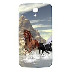 Beautiful Horses Running In A River Samsung Galaxy Mega I9200 Hardshell Back Case