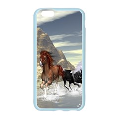 Beautiful Horses Running In A River Apple Seamless iPhone 6/6S Case (Color)