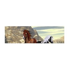 Beautiful Horses Running In A River Satin Scarf (oblong)