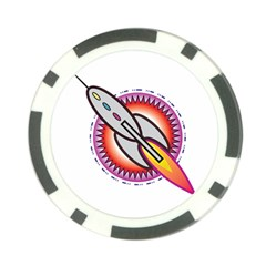 Space Rocket Poker Chip Card Guards (10 pack)