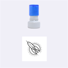 Space Rocket Rubber Round Stamps (small)