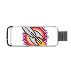 Space Rocket Portable Usb Flash (one Side)