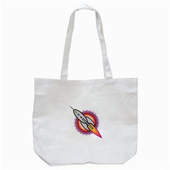 Space Rocket Tote Bag (White)