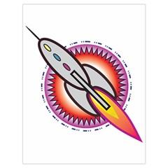 Space Rocket Drawstring Bag (Large)