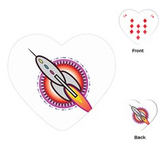 Space Rocket Playing Cards (heart)