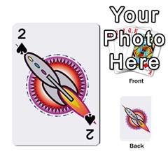 Space Rocket Playing Cards 54 Designs