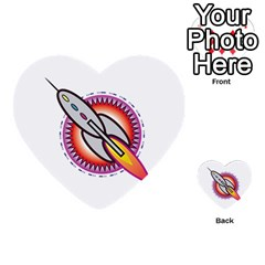 Space Rocket Multi Purpose Cards (heart)