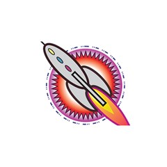 Space Rocket You Are Invited 3d Greeting Card (8x4)